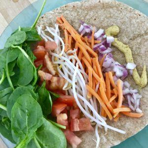 Tuna, Avocado, and Veggie Wrap