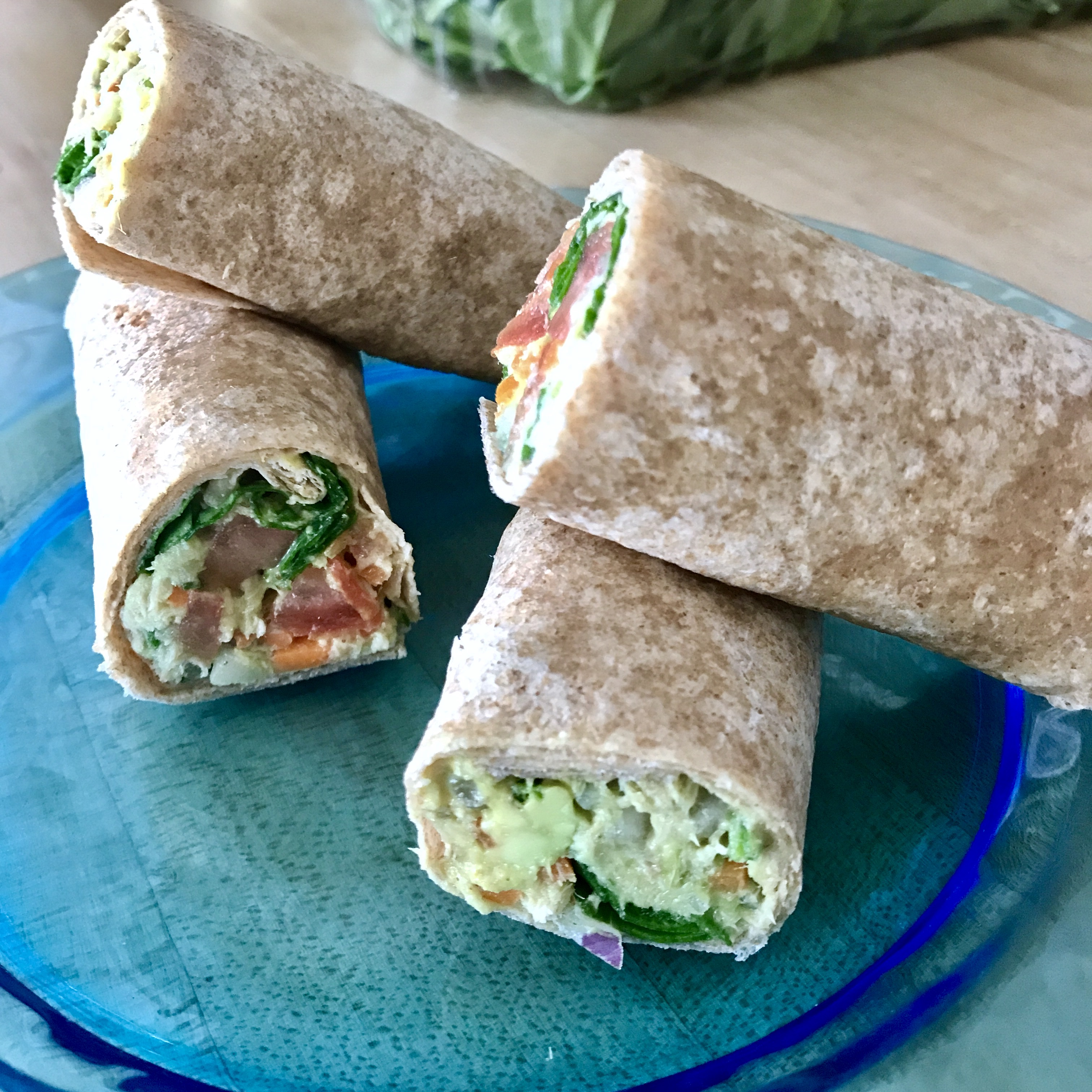 Tuna, Avocado, and Veggies Wrap