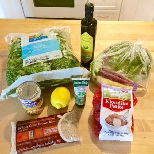 Healthy Kale Salad - Potato, Carrot, Rice