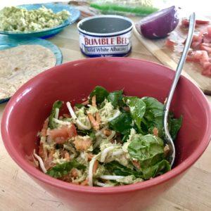 Tuna, Avocado, Veggie Mix