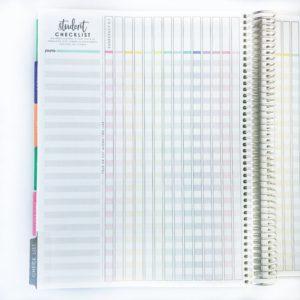 Teacher Planner Student Checklist