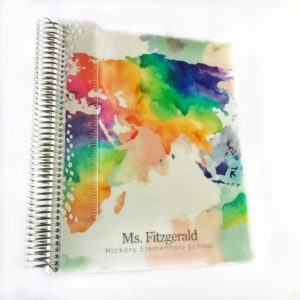 Erin Condren Watercolor Teacher Lesson Planner