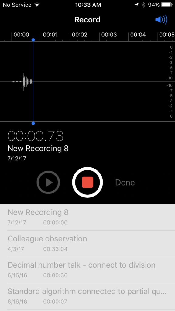 Recording a Voice Memo on iPhone